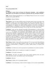 Un entretien d'embauche (français sur objectifs spécifiques)