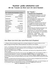 Reisebericht: Mit der Transsibirischen Eisenbahn von Moskau nach Wladwostok
