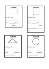 Steckbriefe für verschiedene Formen (Rechteck, Quadrat, Kreis, Dreieck)