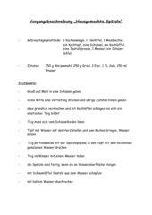Vorgangsbeschreibungen (Stichpunkte)
