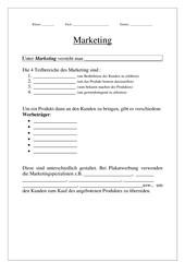 Marketing - Werbung