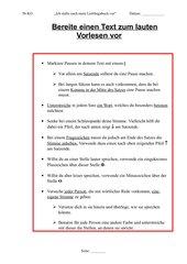 Einen Text für lautes Vorlesen vorbereiten, 5. Klasse