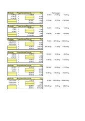 Übungsblatt zu proportionalen Funktionen