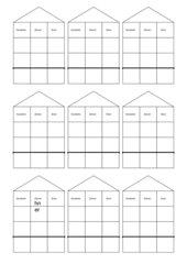 Zahlenhäuser für schirftliche Addition und Subtraktion