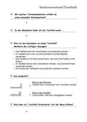 Word/ Textfel, manueller Seitenwechsel