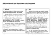 Informationsblatt zur Entstehung der deutschen Nationalhymne