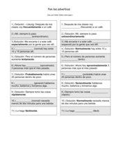 Tandembogen: Adverbien
