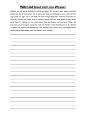Geschichten weitererzählen- Der wasserdichte Willibald