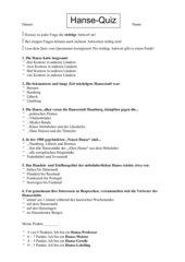 Quiz zur deutschen Hanse