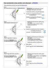 Senkrechte erkennen und zeichnen - eine Anleitung