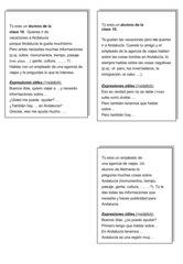 Rollenkarten - Gespräch im Reisebüro über Andalusien