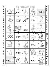 The English Alphabet  -  Boardgame