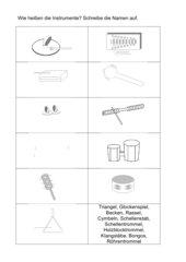 Wie heißen die Instrumente