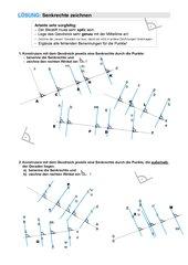 Senkrechte zeichnen durch Punkte auf/ außerhalb einer Geraden