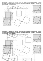 Entdeckender Beweis für Satz des Pythagoras