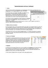 Einführung Tabellenkalkulation mit Excel 1