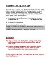 Adjektive mit  -ig und -lich