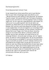 Reizwortgeschichte:Ferien-Burgruine-Geist-Schreck-Traum