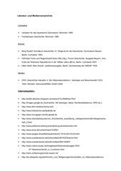 Literaturliste zum UR- Entwurf