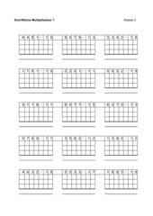 Generator für Übungen zur schriftlichen Multiplikation