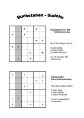 Buchstaben Sudoku zur EM