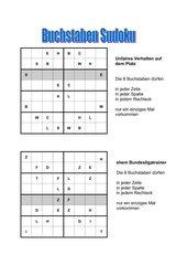 Buchstaben Sudokus mit Fußballwörtern
