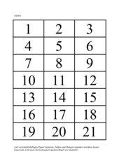 Zahlen und Mengen bis 20