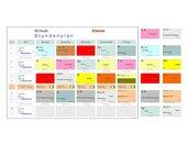 Stundenplan farbig Doppelstunden