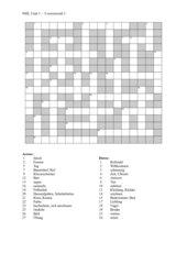 Kreuzworträtsel zu New Highlight 1, Units 1-3