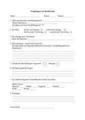 Fragebogen zur Berufswahl