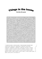Things in the house