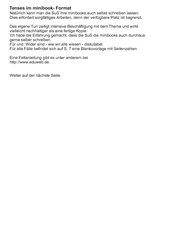 Tenses im minibook-Format, HS Kl. 7-9 BW