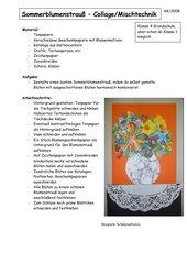 Sommerblumenstrauß - Collage/Mischtechnik