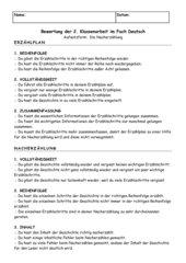Bewertungsbogen Nacherzählung