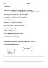 Satzarten  Direkte Rede  Wortfeld sagen (Verb)