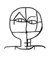 Malen wie Paul Klee - Umrisszeichnung von