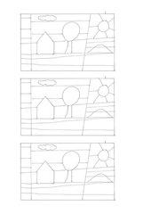 Streifenbilder gestalten wie Ton Schulten bzw. im Stile Paul Klees