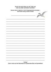 AB zu: Sätze weiterschreiben/Erzählen zum Thema