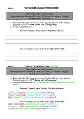 Lerntheke Satzglieder - Satzgegenstand - Satzaussage