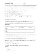 Grammatiktest Deutsch Klasse 7/8