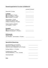 Bewertungskriterien für einen Unfallbericht