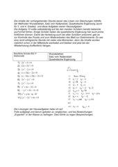 Gleichungen lösen, Puzzle pq-Formel, Diskriminante