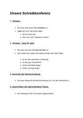 Merkblatt Schreibkonferenz