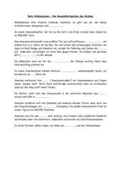 Arbeitsblatt über Rote Waldameise