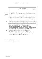 Sleep my babe - Walisische Volksweise - Mitspielsatz