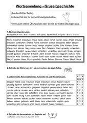 Wortsammlung / Wörtersammlung  Gruselgeschichte