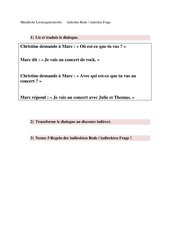 test (oral) discours indirect (kl.8)