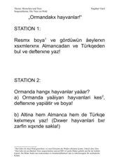 Tiere im Wald in der 5. Klasse im Fach Türkisch