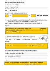 Instruktionsbogen Negation