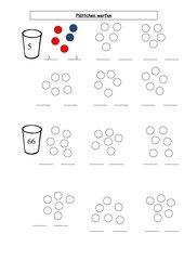 Plättchen werfen - Mengenerfassung - Zahlzerlegung